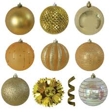 variety gold ornament pack 40 count 70 687 00 the home depot