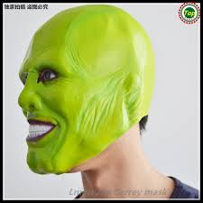 The Mask Costume Free Shipping The Mask Jim Carrey Men Latex Mask Halloween Costume
