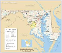 map of maryland with cities reference map of maryland usa nations project