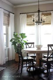brilliant casual dining room window treatments dining room window