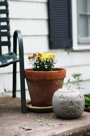 how to make the ultimate concrete jack o lantern for halloweenred