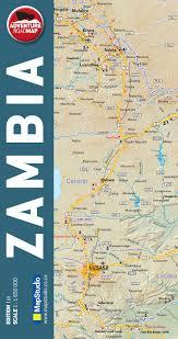 map of zambia zambia adventure road map mapstudio