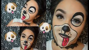 easy face makeup for halloween easy cute puppy halloween makeup youtube
