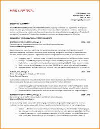 executive summary resume exle executive summary resume exle best of sle executive summary