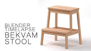 Ikea Bekvam Stool by Blender Timelapse Bekvam Stool Youtube