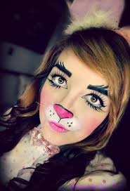 Devil Halloween Makeup Ideas by Best 25 Bunny Makeup Ideas On Pinterest Deer Face Paint Bunny