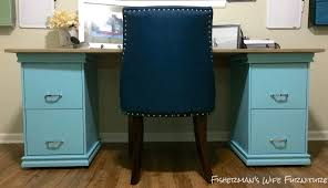 Teal File Cabinet File Cabinet Desk Diy With Filing Cabinets Home Office Us And