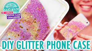 Water Challenge Tutorial Diy Colorful Glitter Phone Hgtv Handmade Phone