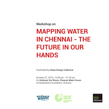 mapping water in chennai workshop documentation by urban design