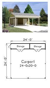 carport with storage plans carport two car garage plan area 576 sq ft garageplan
