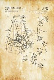outrigger sailboat patent print sailboat decor boat blueprint