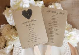 wedding fan programs templates rustic wedding fan program template instantly editable