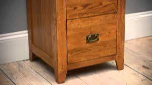 rustic oak 2 drawer filing cabinet pinesolutions youtube