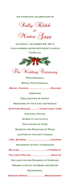 christmas wedding programs wedding day extras christmas wedding program front day