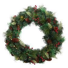 dh 24in battery operated led decorated wreath meijer
