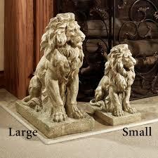 lion statues for sale lions at guard sculpture pair