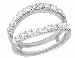 wedding ring jackets 14k white gold genuine 12mm jacket ring guard