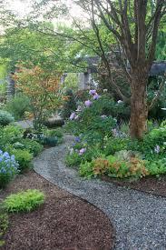 gravel garden path ideas landscape traditional with purple flowers