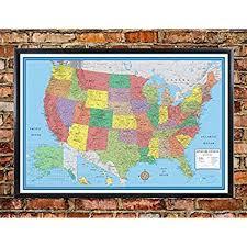 map usa framed framed us map united states usa us vintage wall map