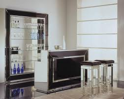 Mirrored Bar Cabinet Marvellous Mini Bar Design With Mirrored Bar Cabinet And Wall