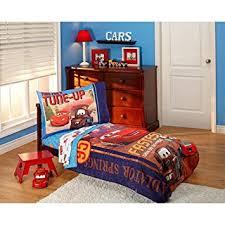 toddler bed blanket amazon com disney cars go team 4 piece toddler bedding set home