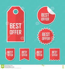 best offer sale sticker modern flat design red color tag