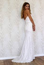 lace wedding dress simple bohemian style wedding gown strapless