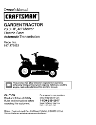 craftsman 917 275023 owner s manual