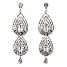 drop diamond earrings sempiternal drop diamond earrings mizana collections