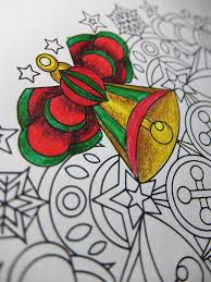 jingle bells christmas mandala candyhippie coloring pages