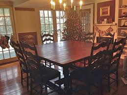 Square Dining Room Table 72 Square Dining Table With Turned Trestle Base Traditional