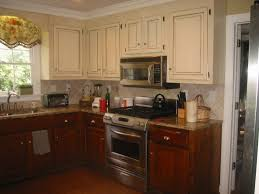 Kitchen Cabinet Varnish by Two Tone Kitchen Cabinet Doors Amys Office