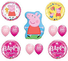 pig balloons peppa pig happy birthday party balloons decorations