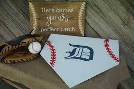 wedding guest book plate size home plate baseball guest book initial home