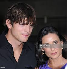 actor ashton kutcher and actress demi moore arrive at the los angeles picture id89846035