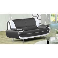 ensemble canapé pas cher ensemble canapé 3 2 plces gris et blanc design muza achat vente
