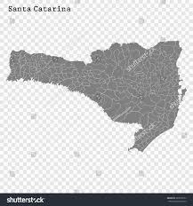 map of santa high quality map santa catarina state stock vector 689578732
