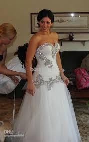 Cheap Brides Dresses Cheap Bling Bling Mermaid Tulle Wedding Dress Sweetheart Beaded
