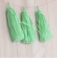 mint green tissue paper 3bags of 15pcs mint green tissue paper tassels wedding bunting