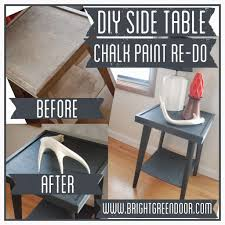 How To Paint A Table Diy Side Table Chalk Paint Re Do How To Paint A Table With Chalk