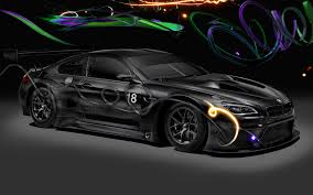 pixel art car bmw m6 gt3 art car by cao fei 2017 wallpapers and hd images
