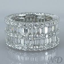 baguette wedding band 6 47 ct eternity baguette diamonds wedding band