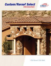 Red Eagle Roofing by Eagle Intermountain Custom Reroof Select Collection 2013 By Eagle