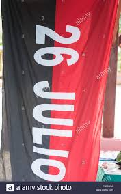 Vanguard Flag Flag Of The 26th Of July Movement The Organization Was A Vanguard