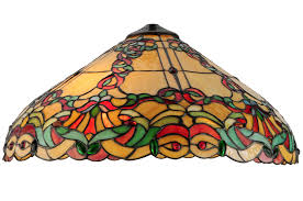 stained glass l shades only 19 inch w baroque vine shade baroque we and copper