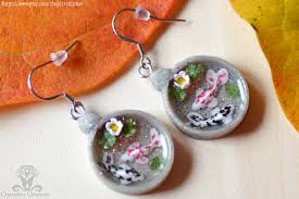 japan earrings japan koi fish earrings resin and polymer clay by crystarbor on
