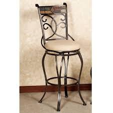 Adjustable Bar Stool With Back Chrome Metal Based Legs Adjustable Bar Stool With Round Pedestal
