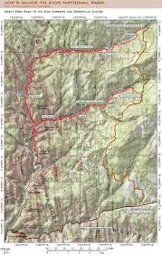 Map Of Zion National Park 12 Best Zion National Park Maps Images On Pinterest Hiking
