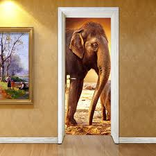 online get cheap castle wall stickers aliexpress com alibaba group 3d door stickers castle elephant stickers living room bedroom door creative pvc background decorative wall stickers