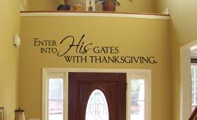 enter into his gates wall decal trading phrases
